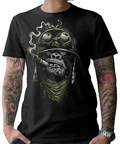 NG articlezz Herren Biker T-Shirt - Gorilla Monkey Kultiges Kurzarmshirt für die Motorradfahrer unter Euch. Gr. S-XXXXXL (Motorrad T-shirts Für Männer)