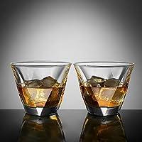 Ecooe 2 x 300ml Whiskeygläser Whisky Glas Set Whiskybecher für Scotch, Bourbon, Whiskey und Viele Getränke Mehr