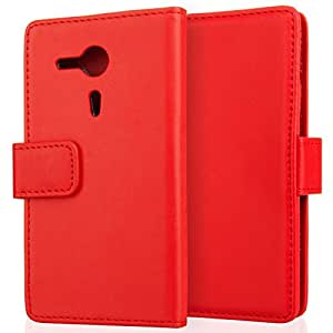 Sony Xperia SP Wallet Case rot