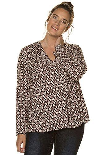 Ulla Popken Femme Grandes Tailles | T-Shirt Manche 3 4 Tunique Lâche Blouse Femme et Top Chic Chemisier | 713813 Multicolore