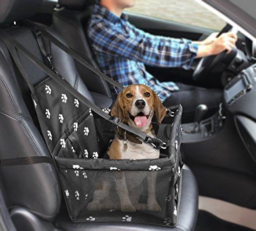 LILARGOT Asiento del Coche de Seguridad para Mascotas Perro Gato Plegable Lavable Viaje Bolsas