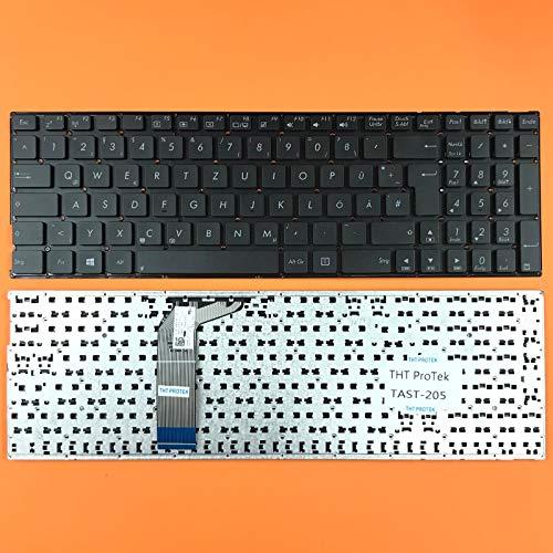 kompatibel für ASUS R753UV, R753UW DEUTSCHE - Schwarz Tastatur Keyboard ohne Rahmen