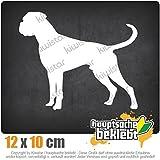 Deutscher Boxer German Hund 12 x 10 cm IN 15 FARBEN - Neon + Chrom! Sticker Aufkleber