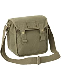 Small Cotton Canvas Side Bag - Olive
