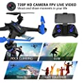 Maxxrace Rc Drone with Camera 720P HD Live Video Quadcopter Toys ?2.4GHz 6 Axis Gyro Wi-fi FPV Remote Control Drone Helicopter with 360 Degrees Flipping Flying Toys for Beginners