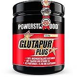 GLUTAMIN PULVER - 500 g - hochdosiert & lecker - 100% microkristallines L-Glutamin + Teacrine + Vitamin B6 für schnelle und vollständige Regeneration - Cherry Bomb Geschmack - Made in Germany