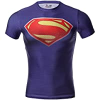 Cody Lundin maschile Compressione di super eroe fitness t-shirt uomo