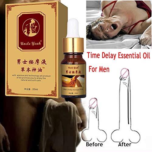 Preisvergleich Produktbild KISSION Männer Massage Öl Big Dick Erweiterung Öle Kräuter Formel Permanent Verdickung Wachstum Massage Öl für die Verlängerung der Zeit,  Zunehmende Härte und Länge (A)