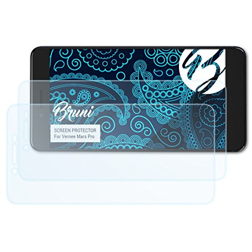 Bruni Schutzfolie kompatibel mit Vernee Mars Pro Folie, glasklare Bildschirmschutzfolie (2X)