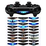 eXtremeRate 30 Pcs/Set Vinyle Léger Réutilisable Léger A Conduit Stickers Autocollants pour Playstation 4 PS4 PS4 Slim PS4 Pro Manette Skins - Signes de Motifs