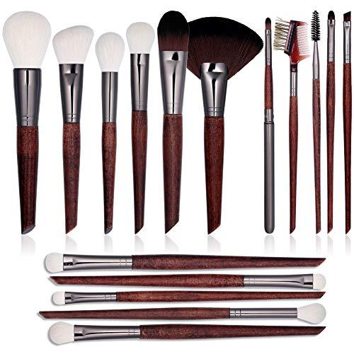 Pinceles de maquillaje 16 PC-profesionales Set-sintético de alta calidad con afilado y...