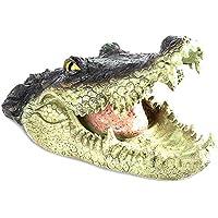 Yisily Falsa Pista del cocodrilo del cocodrilo Impermeable Simulación Boca Abierta Cabeza de Ganso, Predator, la Garza, Pato de Control
