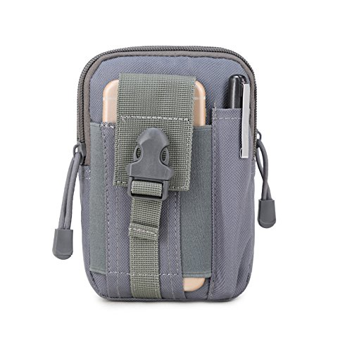 SYSI Outdoor Sport Taktische Taschen 5,5 / 6 Zoll Wasserdichte Handy Tasche Waist Bag Multifunktional für Camping Reise Wandern Grau