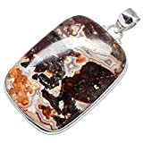 """Crazy Lace Agate, Crazy Lace Achat 925 Sterling Silber Anhänger 2 1/4"""""""