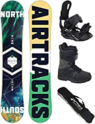 AIRTRACKS SNOWBOARD SET - TABLA NORTH SOUTH WIDE (HOMBRE) 152 - FIJACIONES STAR - BOTAS STAR BLACK 46 - SB BOLSA/ NUEVO