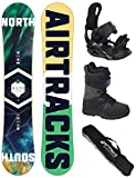Airtracks Snowboard Set - Board North South 156 - Softbindung Star - Softboots Savage Black 43 - SB Bag