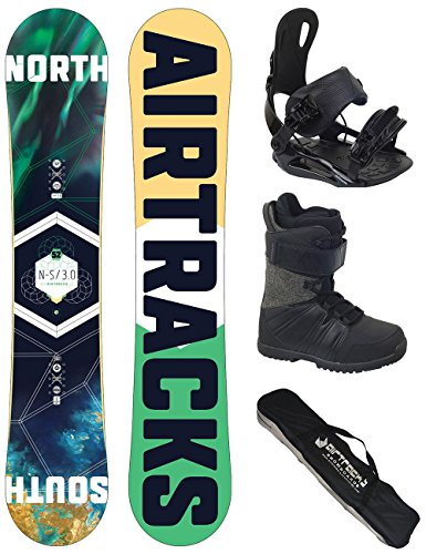 AIRTRACKS SNOWBOARD SET - BOARD NORTH SOUTH 163 - SOFTBINDUNG STAR - SOFTBOOTS MASTER QL 44 - SB BAG