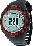 Outbound Run Pro GPS Pulsuhr Fitness Uhr Aktivitätstracker Fitnesstracker mit Herzfrequenzmesser Wasserbeständig - Schwarz/Rot