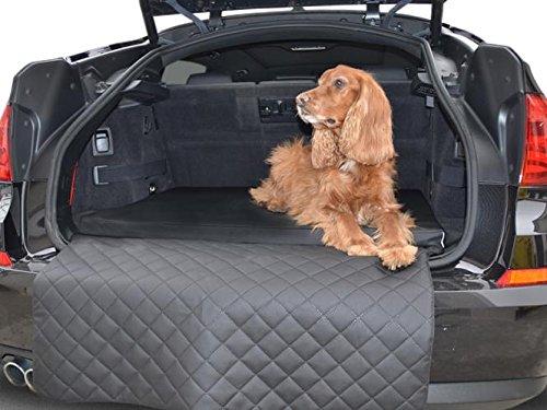 Autohundematte - Kofferraum Schutzdecke - Auto-Hundebett in Schwarz Kunstleder