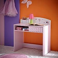 Schreibtisch Sternchen lila / weiß Holz Mädchen Computertisch Kinderschreibtisch Jugendschreibtisch Bürotisch Kinderzimmer Jugendzimmer preisvergleich bei kinderzimmerdekopreise.eu