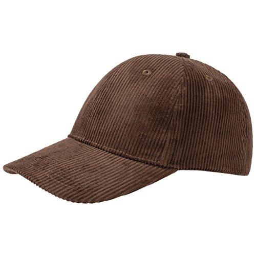 Basic Cord Baseballcap Basecap Cap Baumwollcap Kappe Cordcap Baumwollcap Cap (One Size - braun) (Baumwolle Cord Kappe)