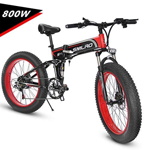 KUDOUT Vélo Electrique 26' E-Bike, VTT Pliant 48V 800W...