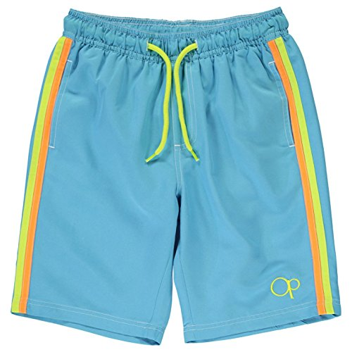 ocean-pacific-plain-garcons-enfants-natation-shorts-de-surf-bermuda-maillot-bain-turquoise-9-10-mb
