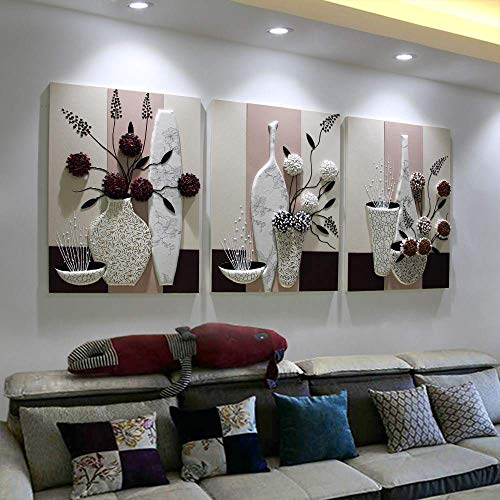 Sala De Estar Pintura Decorativa Nordic Abstracto Sofá Fondo Pintura De Pared...