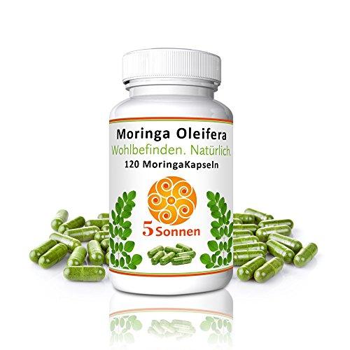 Moringa Kapseln I vegan I hochdosiert I RohkostqualitätI I Moringa Oleifera I 100% reines Naturprodukt I Superfood I höchste Fülle an Nährstoffen - Rennen-tag-tee