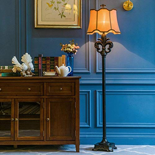 CWJ Stehleuchte-geführte kreative Stehlampe Schmiedeeisen-Gewebe 40 * 168Cm Amerikanisches Wohnzimmer Retro- Luxuxgericht französische europäische Klassische Lampen-Augen-Schutz-vertikal -