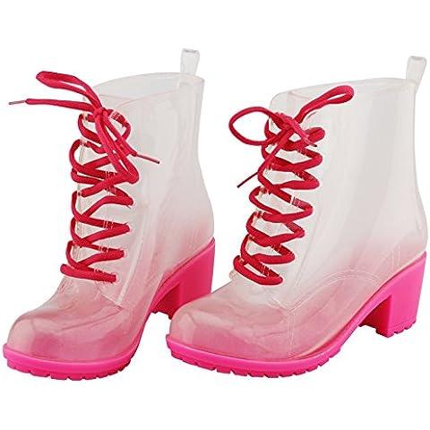 Martin tubo moda pioggia stivali donne, color