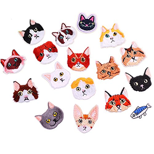 17pcs Assorted Cute Kitten Mini gatos delicioso pescado