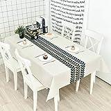 Dekorative Tischdecke Home Nordic dicke baumwolle leinen kunst modernen minimalistischen rechteckige tischdecke couchtisch tischdecke runde tisch TV schrank abdeckung benutzerdefinierte (Farbe: A, Grö