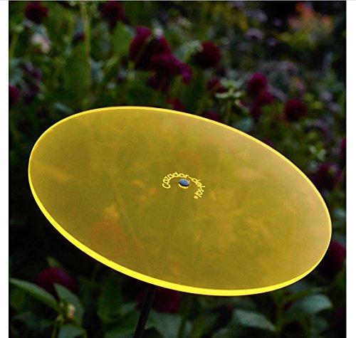 Cazador-del-sol ® | Uno | Sonnenfänger gelb, Durchmesser 20 cm, 1,75 Meter hoch – das Original - 2