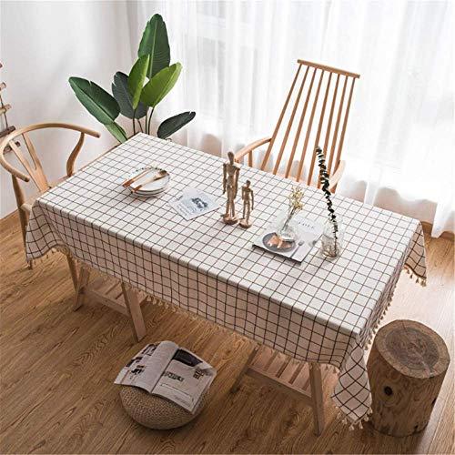 nen Rechteck Gitter Quaste Tischdecke Halloween Wohnkultur Tischdecken Küche Esstisch B 140x200cm ()