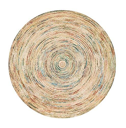 Runde Bunte Bereich dekorative Teppiche für Wohnzimmer/Schlafzimmer | Weicher Esszimmer Teppich Rutschfeste Yoga Matte | Wohnkultur Teppich (größe : Diameter120cm)
