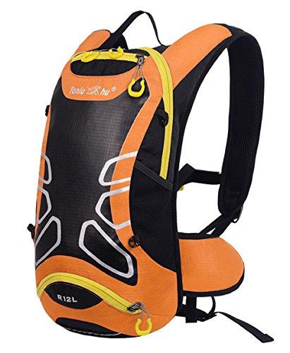 peiji Wasserdicht 12L Outdoor Wandern Fahrrad Radfahren Reiten Rucksack Packsack Tasche orange