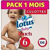 LOTUS BABY TOUCH - Culottes Taille 6 (16-26 kg) - lot de 4 packs de 34 culottes (x136 culottes)
