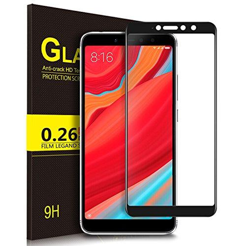 KuGi Xiaomi Redmi S2, Xiaomi Redmi Y2 Protector de Pantalla, Full Coverage Cristal Vidrio Templado Film [9H Dureza] [Ultra HD] Screen Protector para Xiaomi Redmi S2, Xiaomi Redmi Y2(Negro)
