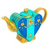 Artvigor, Porzellan Kaffeekanne, 0,85l Tee Kanne, Handbemalt, Tischdeko