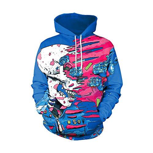 OYSOHE Liebhaber Pullover, Damen & Herren 3D Print Party Langarm Punk Bluse Hoodie...