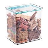 Conteneur de rangement de produits pour animaux domestiques avec couvercle étanche pour nourriture et gâteaux pour chiens, autres - 2,8 l., Transparent