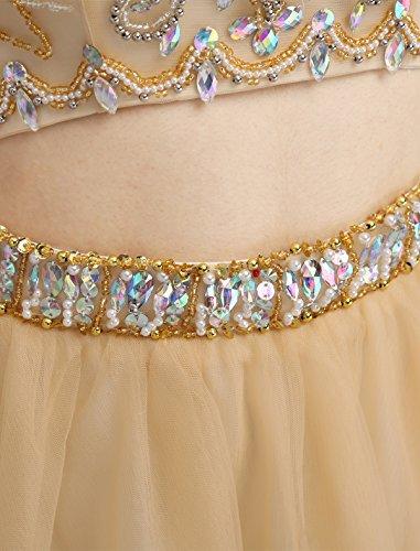 Dressystar Robe femme, Robe de soirée courte 2 pièces,dos nu,aux strass perles à fleur, en Tulle Vert