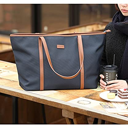 CHICECO-Nylon-Arbeit-Shopper-Tasche-Handtasche-Damen-Schwarz