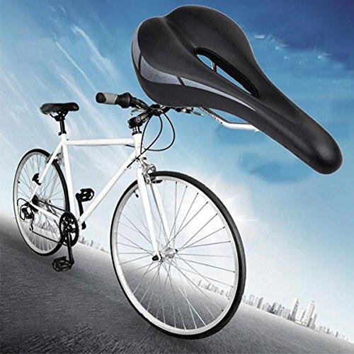 MaMaison007 Hollow MTB Road bici bicicletta sella sport Soft Pad sella sedile nero - Atletica Sedile