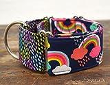 Martingal Hundehalsband: Rainy Day, von Hand gefertigt in Spanien von Wakakán