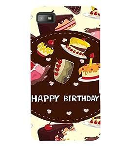 Fuson 3D Printed Birthday Designer back case cover for Blackberry Z10 - D4312