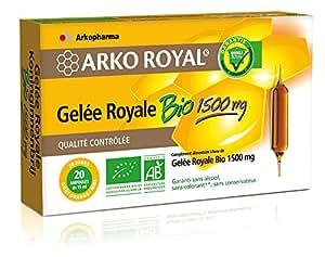 ARKOPHARMA Gelée Royale Bio 1500 mg ArkoRoyal - Boîte de 20 ampoules de 15 ml