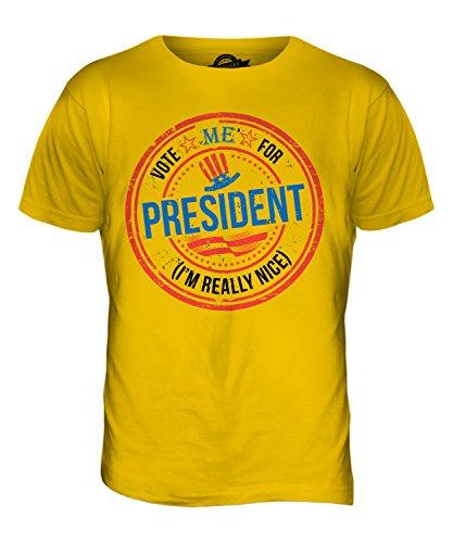 CandyMix Usa Präsidenten Herren T Shirt Dunkelgelb