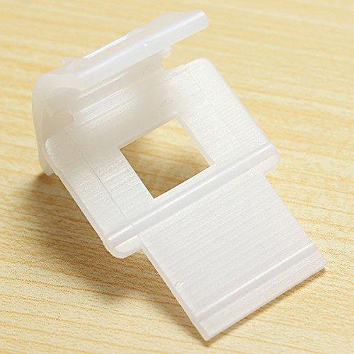 Generic 100pcs Weiß Basis Fliesenkeile Zuglaschen Fliesen Nivelliersystem aus Kunststoff , 3 x3 x 4cm